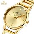 Ladies Luxury Watches Brand  Wristwatch Female Clock 18K Gold Watch Lady Quartz-watch Montre Femme Relogio Feminino