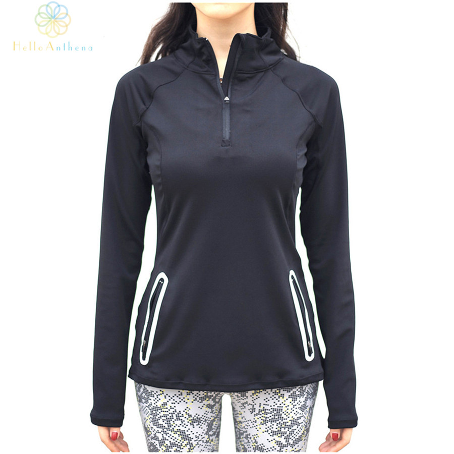 e43db718eee77 Hello Anthena Women s Solid Color Slim Jacket Coat With Pre-Pocket Semi  Zipper Reflective Stripe Running Outerwear Fitness Yoga
