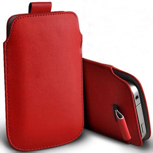 Bolsa de cuero de la pu bolsas móvil casos 13 colores pouch case para nokia e52