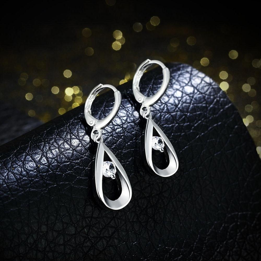Nieuwe mooie mode kleur zilveren oorbellen sieraden voor vrouwen - Mode-sieraden - Foto 4