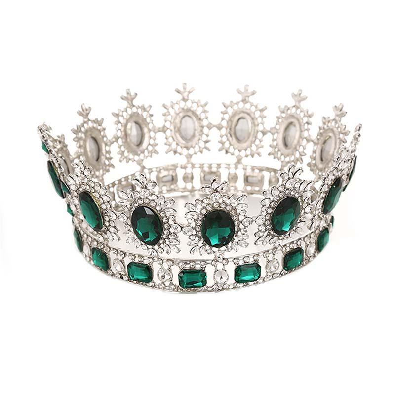 Luxury Metal Rhinestone Crystal Noiva Tiaras and Crowns Full Circle Bridal Diadem Headpiece Wedding Hair Jewelry Accessories BH