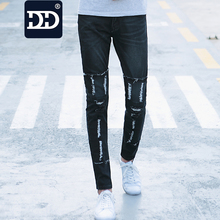 DD Jeans Men 2016 Middle waist Mens Casual Straight Mens Jeans Straight Regular Jeans Mens Long