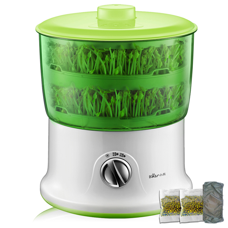 Microcomputer Intelligence Bean Sprouts Growing Machine Household Automatic Bean Sprouts Machine Large Capacity 2PC Water Circle bear three layers of bean sprouts machine intelligent bean sprout tooth machine dyj b03t1