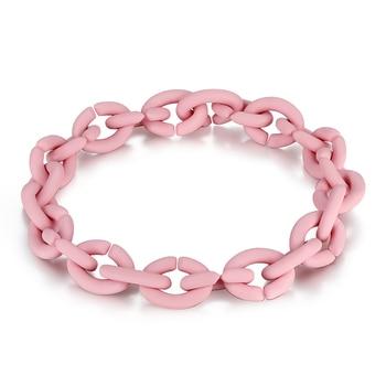 2019 Fashion Hard Rubber X Bracelets 10 Colors For Women Jewellery European style Bracelet Men Jewelry Diy Best Gift