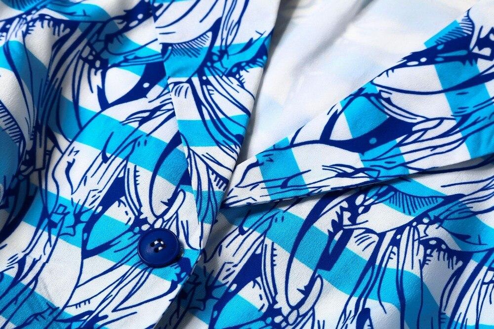Nouveau Qualité Luxe Automne Piste Marque De Vêtements Baissez Robe Mode Haute Femmes 2018 Imprimé Robes Cou AqxUdHH