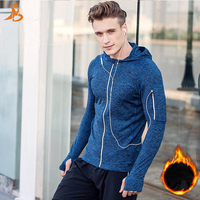 Winter Thermal Mens Running Jackets Fitness Sports Coat Gym Fitness Tight Top Outdoor Sports Soccer Gym Jogging Jogger Jackets