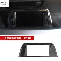 1pc ABS Carbon fiber grain Central control navigation panel decoration cover for 2016 2018 BMW X1 F48 car accessories