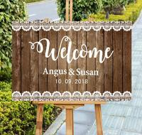 Unique Pattern Mr Mrs Wedding Welcome Sign,Personalized Name Date Wooden Wedding Ceremony Sign,Rustic Party Decor Sign,Gift