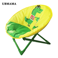2019 Lounge Chair For Toddlers and Kids Lightweight Foldable Kids Saucer Chair Children Folding Round Seat Camping Chairs
