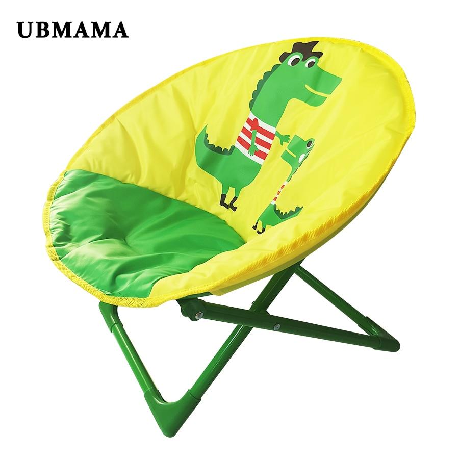 2019 chaise longue pour les tout-petits et les enfants légère pliable enfants soucoupe chaise enfants pliante ronde siège Camping chaises