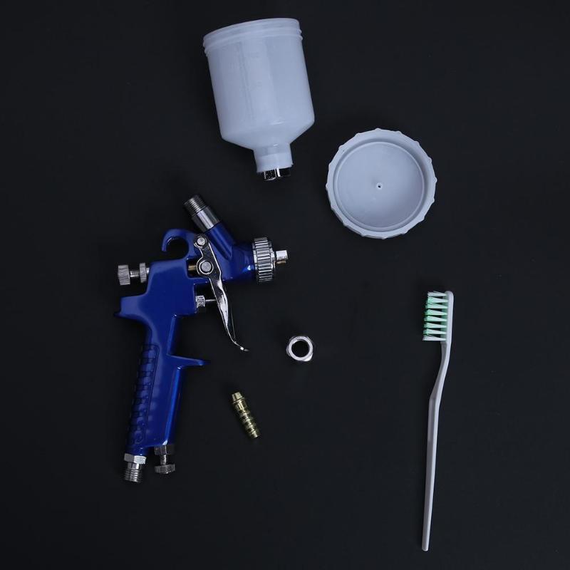 Image 4 - Professional 0.8MM/1.0MM Nozzle H 2000 Mini Air Paint Spray Gun Airbrush HVLP Spray Gun for Painting Car Aerograph Airbrush-in Spray Guns from Tools on