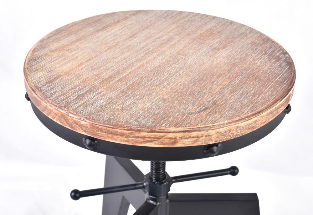 Stile industriale sgabello da bar in legno di pino naturale top