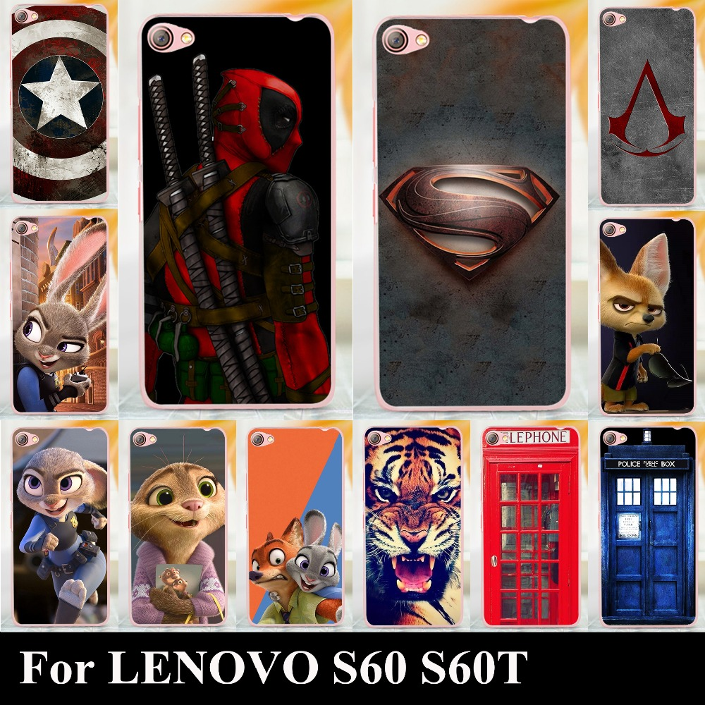 For Lenovo S60 S60t High Quality Transpatent Hard Plastic Color Lg L80 Dual D380 Black Free Case Paint Mobile Phone Cover