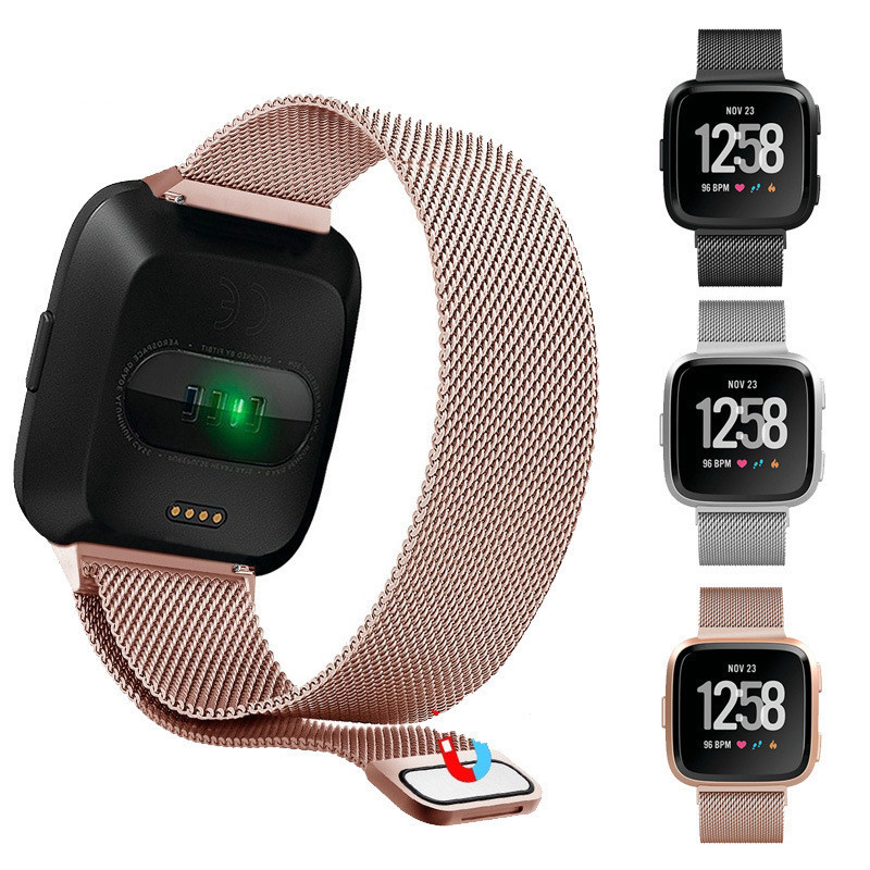 Fashion Milanese Loop Watch Strap for Fitbit Versa Band Magnetic Clasp Metal Replacement Bracelet Strap Wrist Bands Women Men все цены