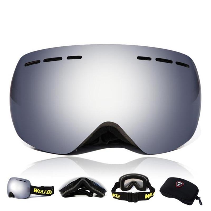 Q902 Открытый очки для верховой езды лыжные очки двойной анти-туман сферическая Лыжный Спорт очки Защита для глаз