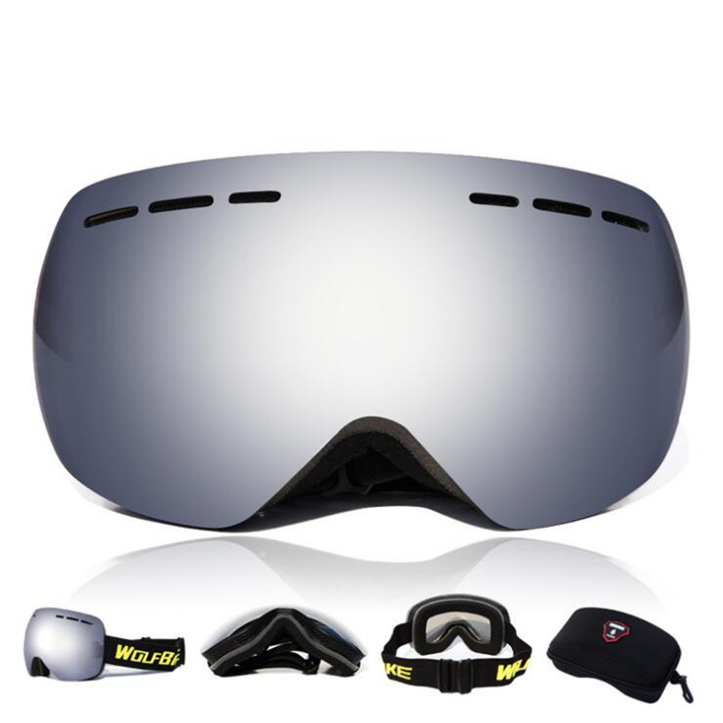 Q902 Outdoor goggles riding ski glasses double anti-fog spherical Skiing goggles glasses Cycling Eyewear