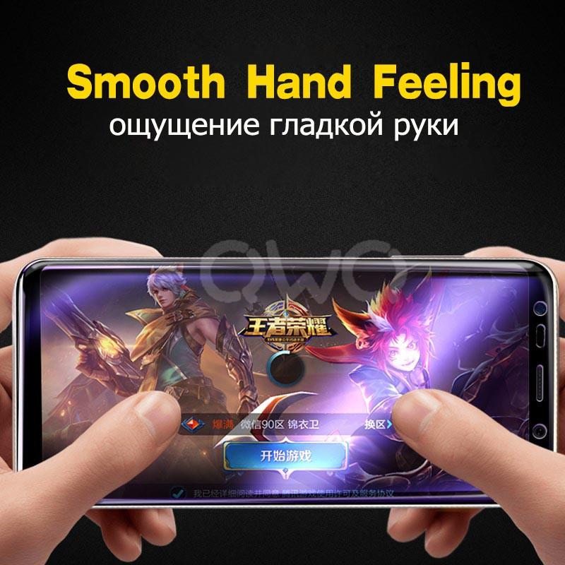 20D Full Curved Screen Protector For Samsung Galaxy S9 S10 S8 Plus Note 10 Plus 8 9 Tempered Glass For Samsung Galaxy A50 Film