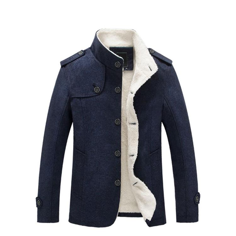 Mountainskin Winter Men's Coat Fleece Lined Thick Warm Woolen Coats Autumn Overcoat Male Wool Blend Jackets Brand Clothing SA607 6