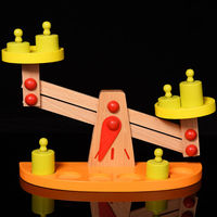 Candice guo! Educational wooden toy Montessori balance scale model children kids early Learning birthday Christmas gift 1pc