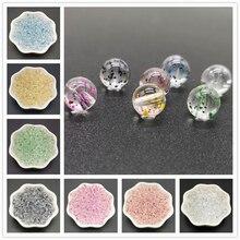 8 мм прозрачные акриловые блестящие бусины для изготовления ювелирных изделий, аксессуары для ожерелья, круглые бусины ручной работы оптом, 50 шт./лот
