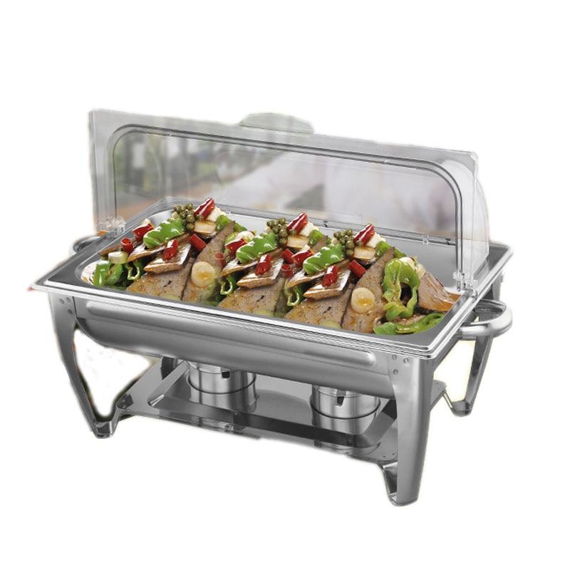 stainless steel buffet chafing dish hotpot heater 9l basin fliptop rh aliexpress com