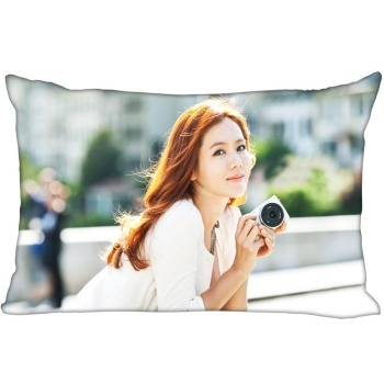KPOP star Son Ye Jin rectangular pillowcase two sided printing satin pillow cover Custom your image gift image