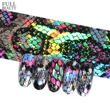 Full Beauty 16pcs Snake Design Nail Foils Holographic Starry Sky Foil Transfer Sticker 20*4cm Manicure Nail Art Decals CH937