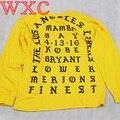 I Feel like Kobe Mamba Day Pablo Kanye West MSG Long Sleeve T shirt GOLD Hip Hop Casual T-shirts WXC