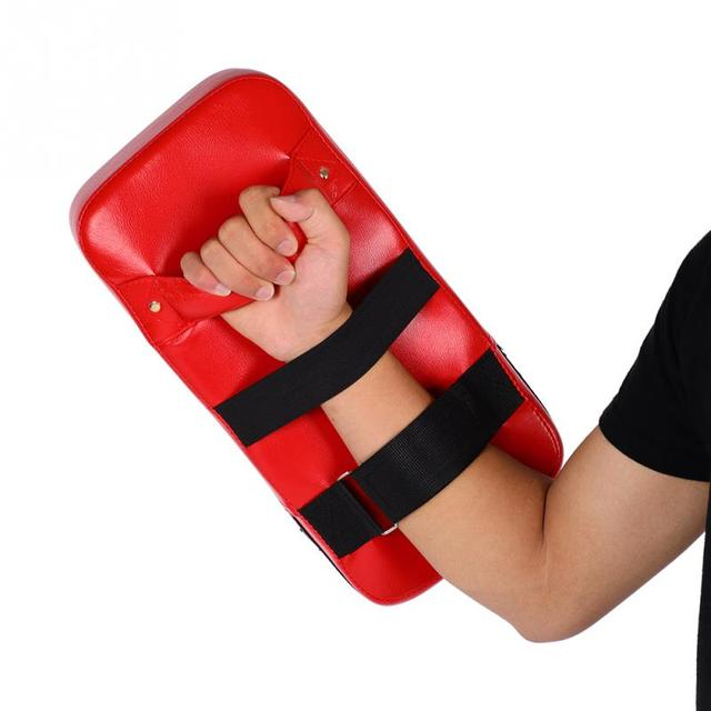 Durable Punching Bag Boxing Pad Sand Bag Fitness Taekwondo Kicking Punching  Pad PU Leather Training Gear Muay Thai Foot Target