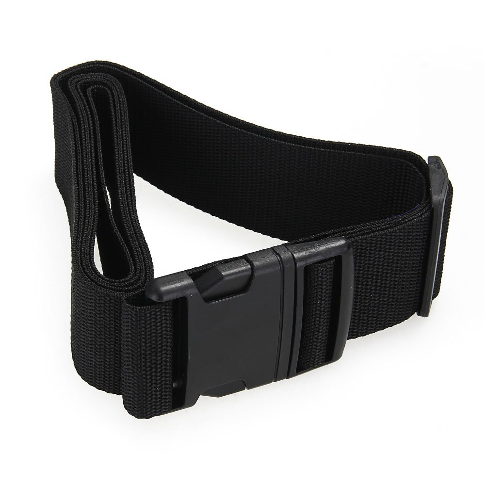 купить Luggage belt strap Belt Cord Rope Black for Suitcase Travel Bag 2M недорого