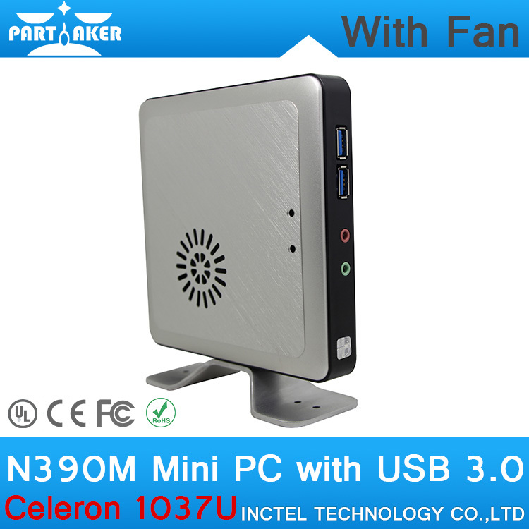 4G RAM 128G SSD N390M Celeron 1037U Mini PC Wall mounted Thin Client with Ultra low
