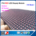 Single color red led module p10 advertising signboard screen module led display module led open sign led panel display 320*160mm