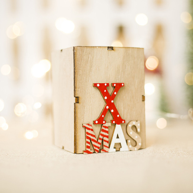 Christmas Wooden Candle Holders