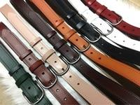 Women fashion leather belt black waist belts brief style 2018 women red white green brown beige