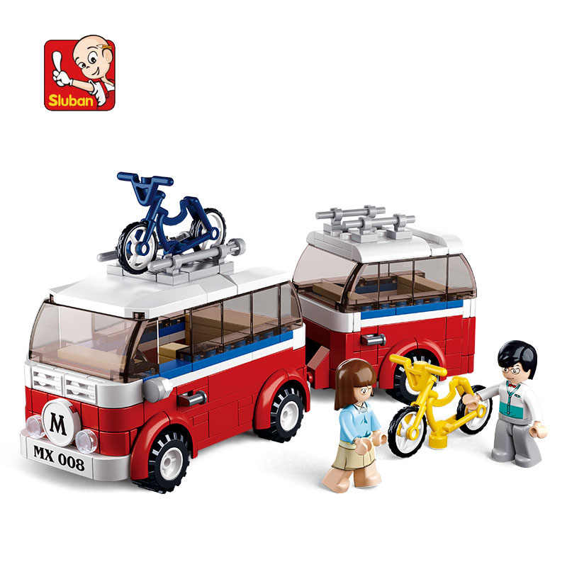 Construction kits Red Coach Transport Figure Toy Gift Model Child 250PCS