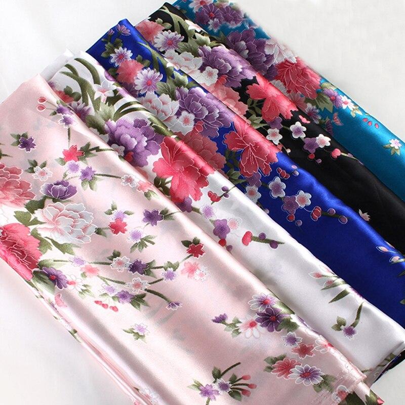 Женское платье, пижама, ткань с принтом, атласный шармёз, декоративная ткань, Текстиль