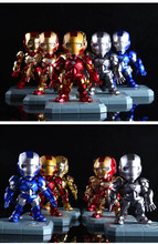 9 Style Avengers Voice-Activated Iron Man Figure Hot Movie 15CM Ultron Light Iron Man Metal Mark PVC Action Figure toys