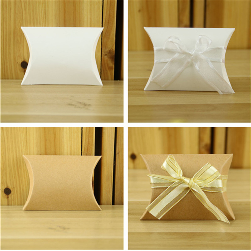 100pcs/set Kraft Paper Gift Packing Boxes Blank Soap Box,jewelry/ Wedding/party /candy/accessories Storage Boxes Home & Garden