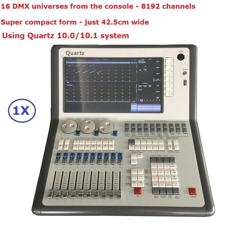 2017 Mais Novo Compacto Móvel DMX Controlador de Iluminação de Palco 10.0/10.1 Sistema de Quartzo Titan Móvel Com 8192 Canais DMX Avolites