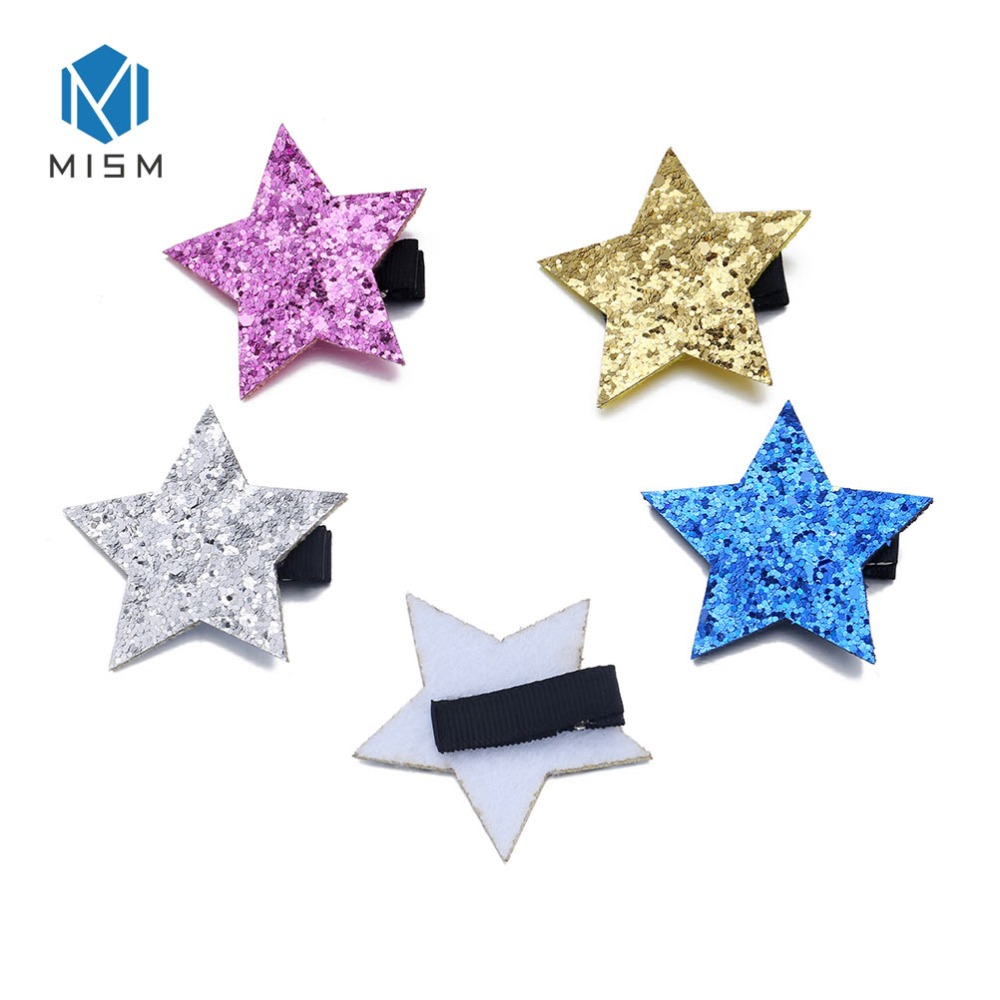 Hair Accessories Lovely Girls Hair Clips Cute Sequins Star Shape Hair Pin Children Hairpin Princess Hair Accessories For All Ages Mother & Kids