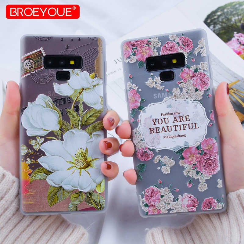 3D Relief Case For Samsung Galaxy A7 2018 A6 Plus Case J3 J5 J7 2016 A3 A5 A7 2017 J6 J8 J4 2018 Note 9  S7 Edge S8 S9 Plus Case