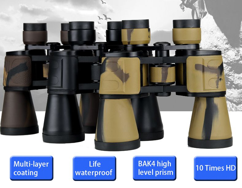 Waterproolf Classic Binoculars <font><b>20X50</b></font> HD Wide Angle <font><b>Monocular</b></font> BAK4 Prism Folding Binocular Telescope for Outdoor Hiking Camping image