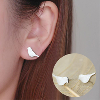 Shuangshuo 2017 Trendy Earrings Boho Brushed Bird Stud Earrings for Women Classic Animal Bird Women Earrings Jewelry Party Gift 1