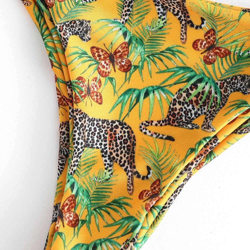 ZAFUL dżungli Leopard rury Bikini Set lato kobiet brazylijski strój kąpielowy na plaży kobiet stroje kąpielowe strój kąpielowy Biquinis