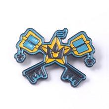 Game Kingdom Hearts Enamel Brooches Pins Creative Sora Keyblade Key Paopu Fruit Badge For Women Men backpack bags Hat Jewelry