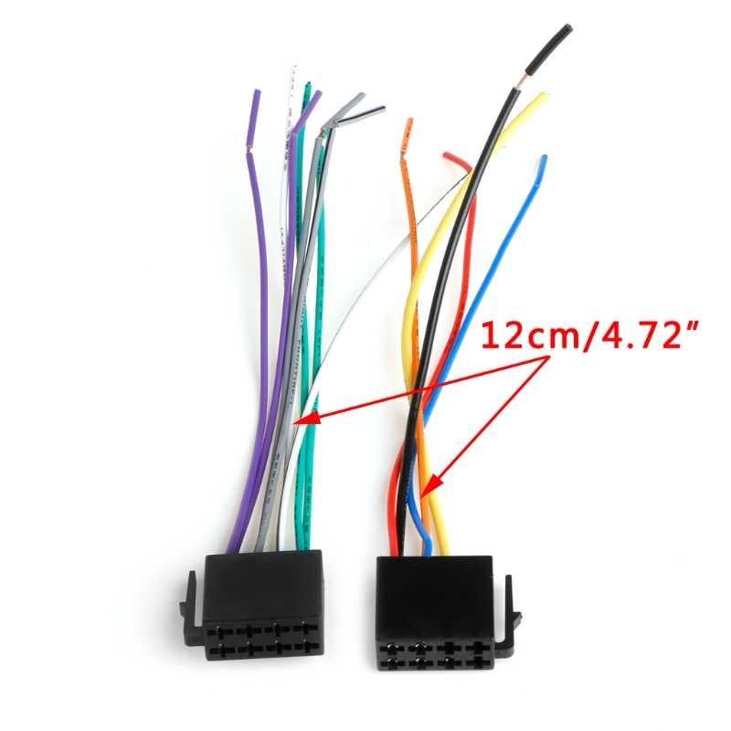 1 juego Universal hembra ISO cableado arnés coche Radio adaptador conector cable enchufe Kit caliente Oct10 Envío Directo