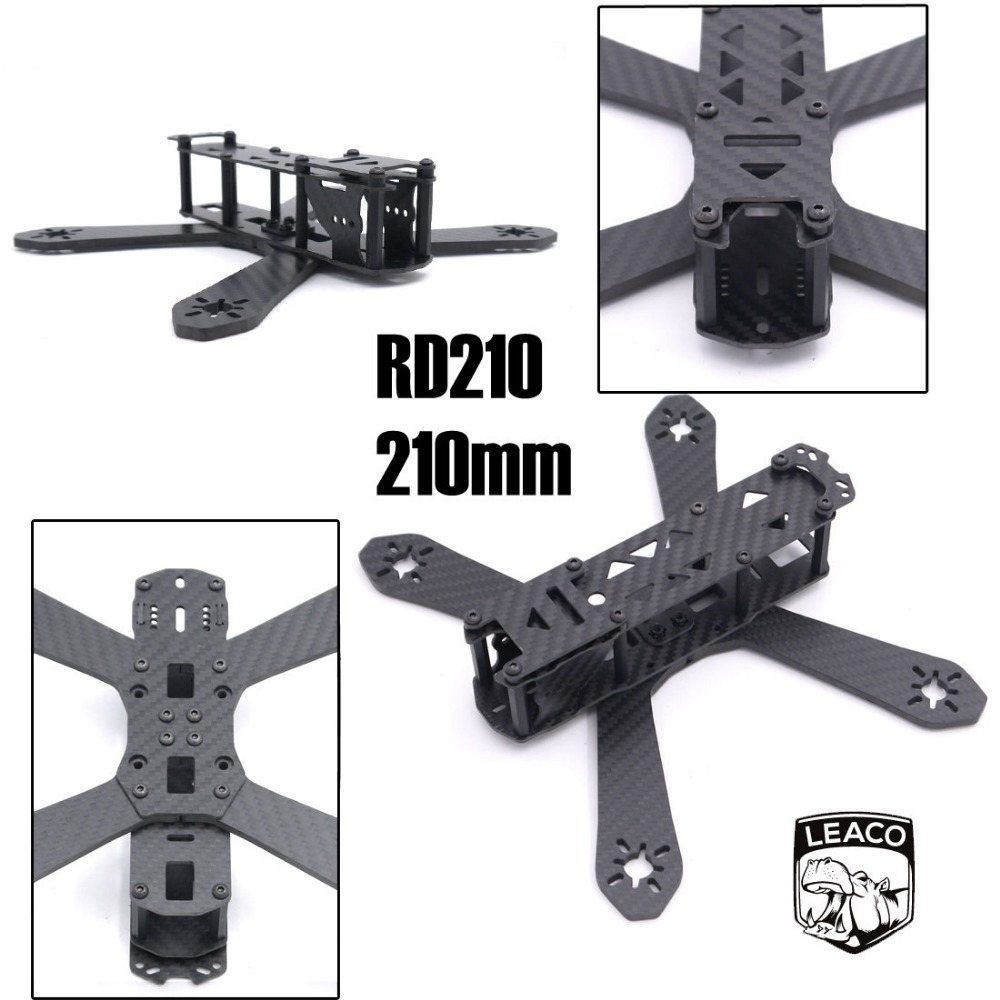 RD-210 210 210mm DIY Mini Drone FPV Cross Racing Pure Carbon Fiber Frame 4mm arms RD210 QAV210 Quadcopter diy carbon fiber frame arm with motor protection mount for qav250 zmr250 fpv mini cross racing quadcopter drone