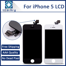 100% Guarantee A+++ Shenchao Display For iPhone 5 LCD Touch Screen Digitizer Glass Assembly Replacement, DHL Free