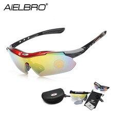 Cycling Glasses Sets 5 Lens Sports Men Women Running Fishing Sun UV Protect Road Bicycle MTB Sunglasses