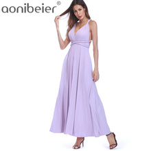 Aonibeier Sexy Women Maxi Club Dress Bandage Long Party Multiway Swing Dresses Convertible Infinity Robe Longue Famle 2018